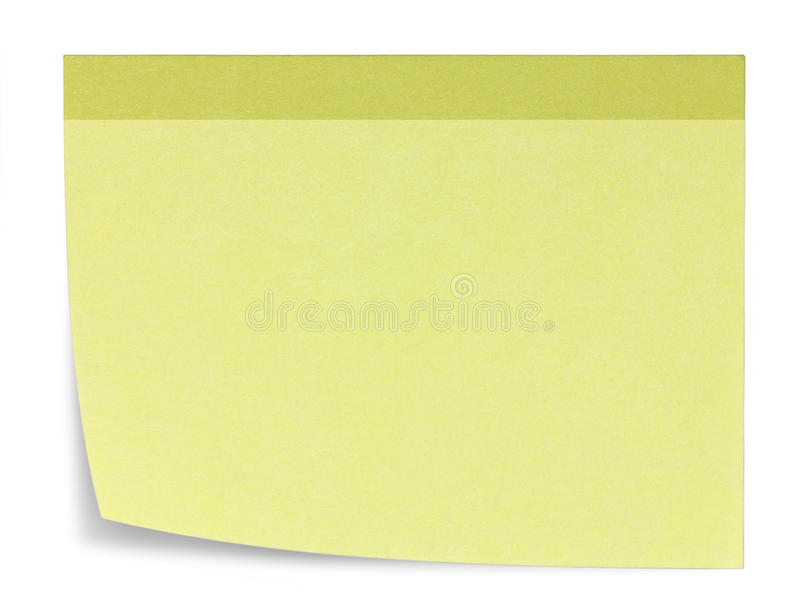 Download Rectangular Sticky Note, And Shadow Stock Illustration - Image: 35237996