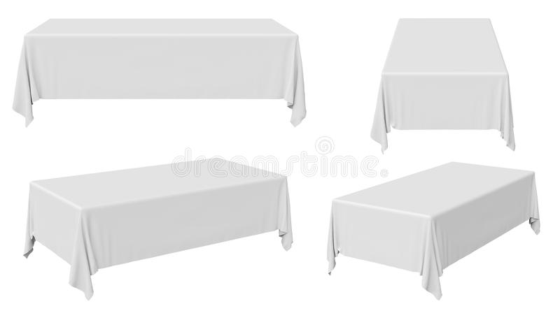 Rectangular tablecloth set stock illustration