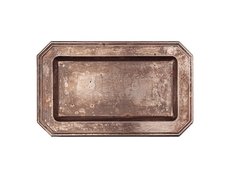 Rectangular vintage plate top view royalty free stock images