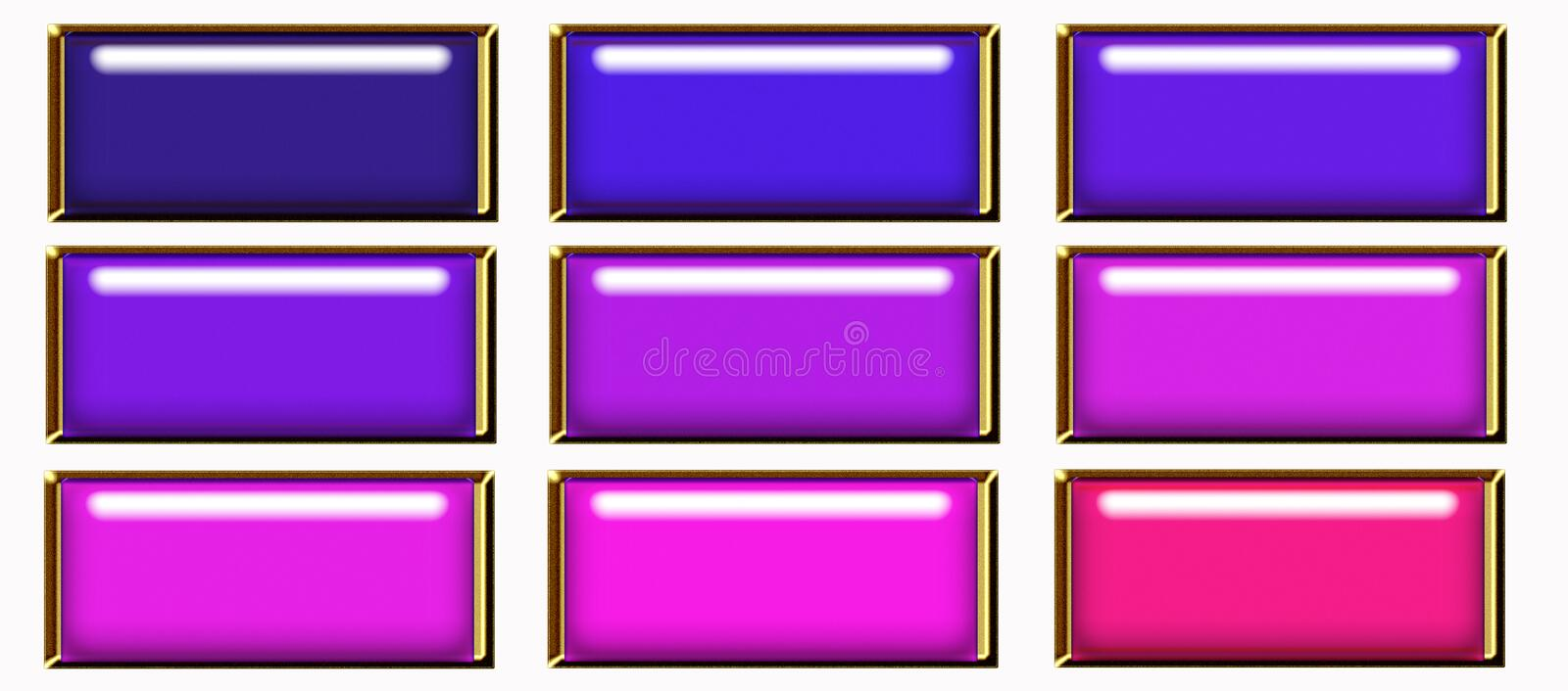 Download Rectangular  web button stock illustration. Image of buttons - 6934291