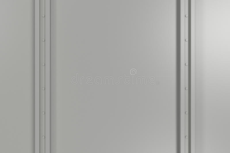 Rectangular white plate texture with rivets. Abstract metal banner. Rectangular white plate texture with rivets. 3D render illustration stock illustration