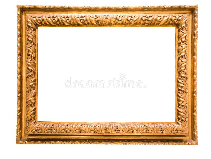 Rectangularframe για τη φωτογραφία στο απομονωμένο υπόβαθρο στοκ εικόνες