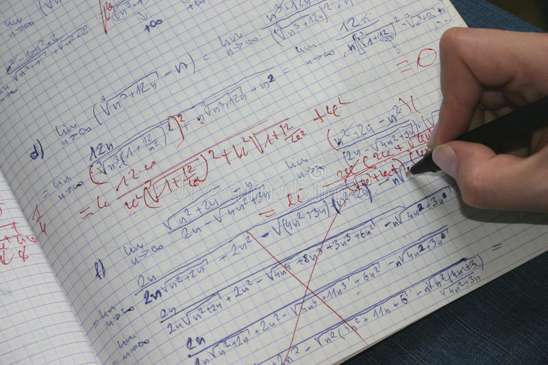 Rectification des maths #2 photos libres de droits