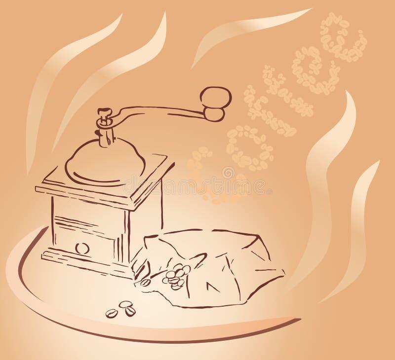 Rectifieuse de café illustration libre de droits