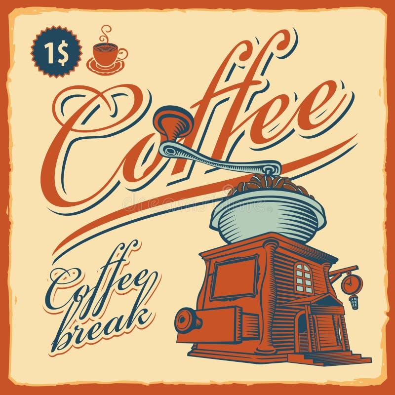 Rectifieuse de café - café illustration de vecteur