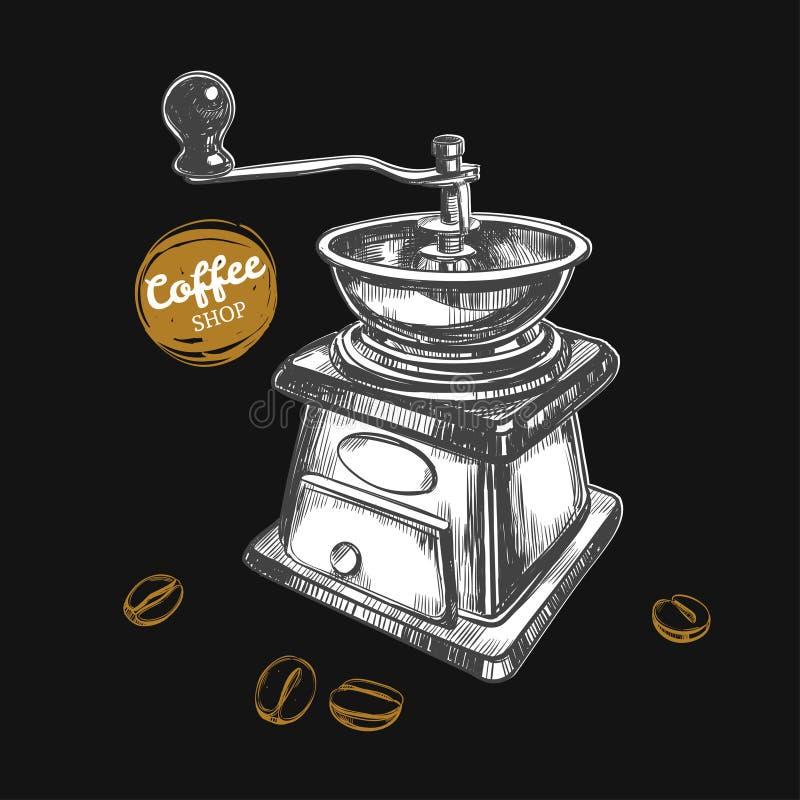 Rectifieuse de café Concept de café illustration de vecteur