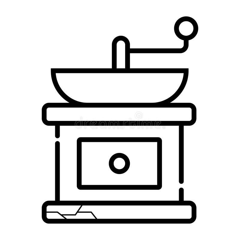 Rectifieuse de café manuelle Vecteur illustration stock
