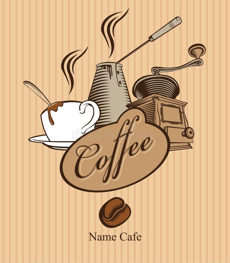Rectifieuse et cuvette de café illustration libre de droits