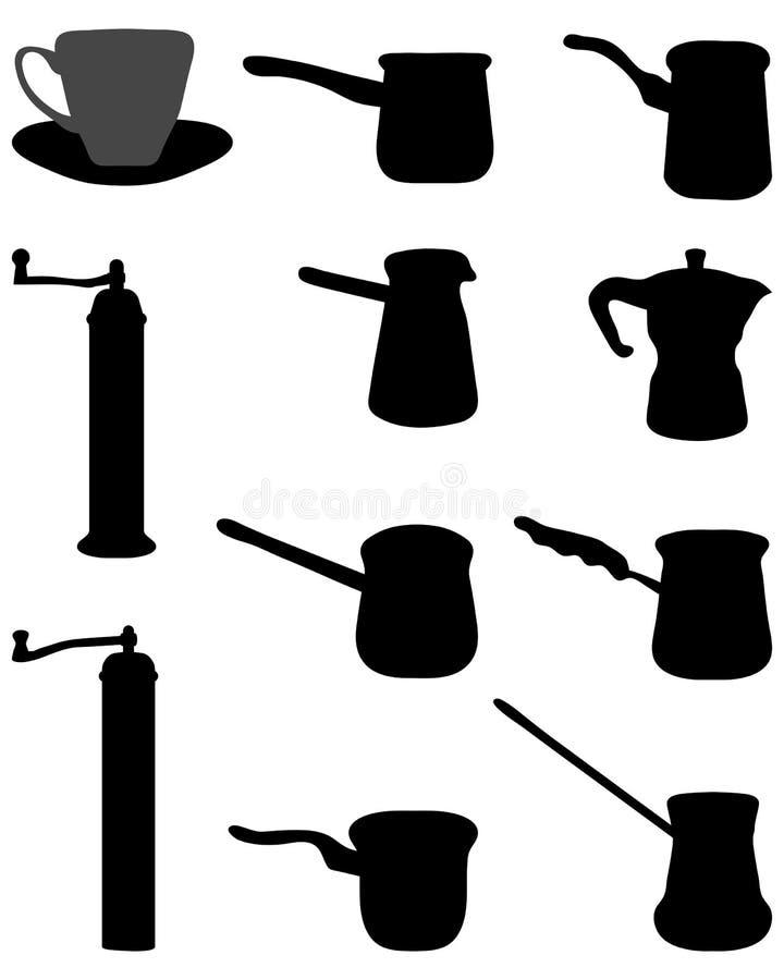 Rectifieuse pour le café illustration stock