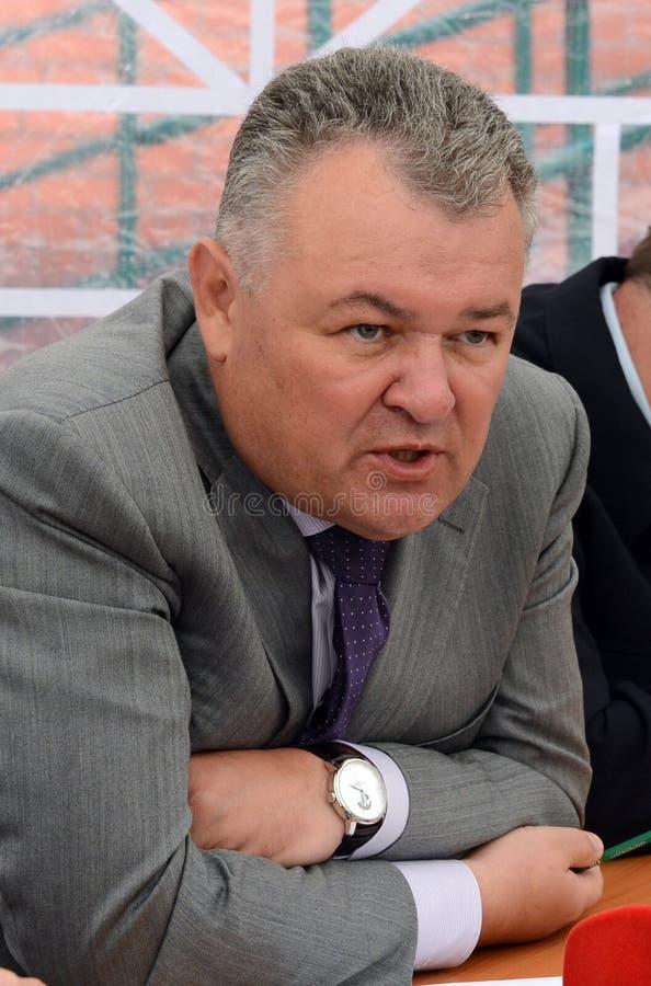 Rector de la universidad legal Victor Blazheev del estado de Moscú foto de archivo