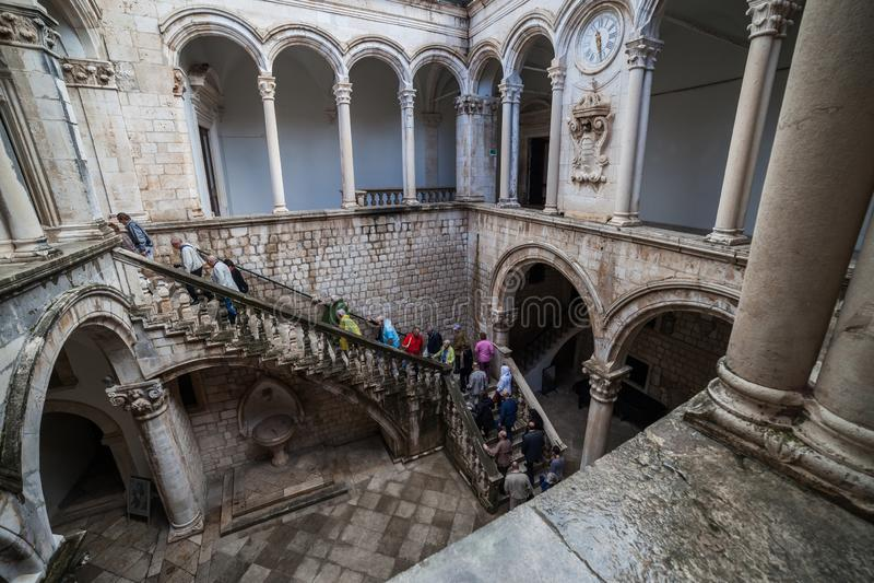 Rector Palace en Dubrovnik fotos de archivo