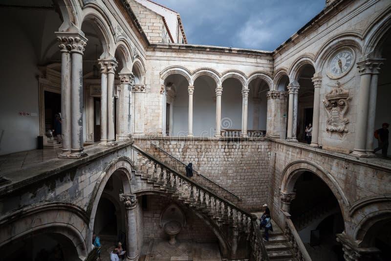 Rector Palace en Dubrovnik foto de archivo