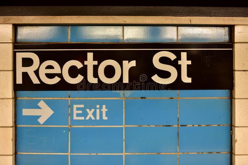 Rector Street Subway Station - New York City fotos de archivo