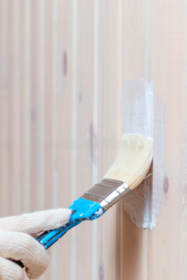 Recubrimiento de la pared de madera de impregnación protectora imagen de archivo