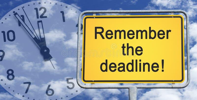 Recuerde la muestra del plazo fotografía de archivo libre de regalías
