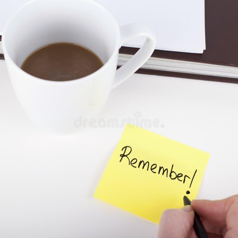 Recuerde la nota imagenes de archivo