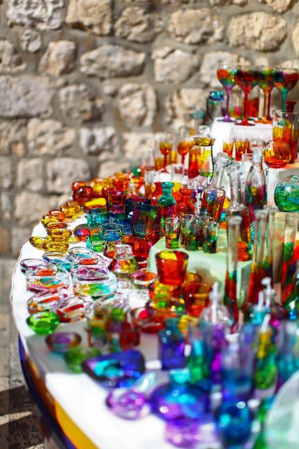 Recuerdo croata colorido del vidrio foto de archivo