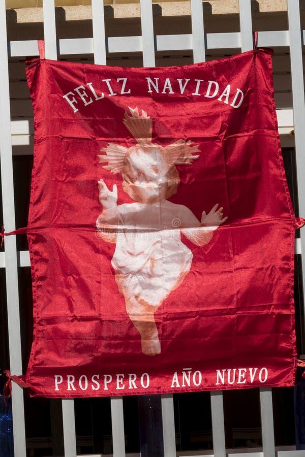 Recuerdo la bandera roja fotografía de archivo