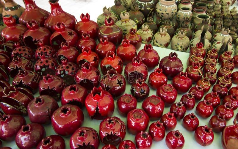 Recuerdos de Armenia con adorno de la granada fotos de archivo libres de regalías