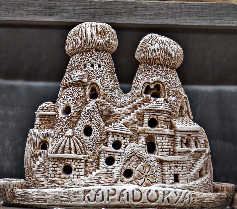 recuerdos de cerámica del cappadocia de la chimenea de hadas foto de archivo libre de regalías
