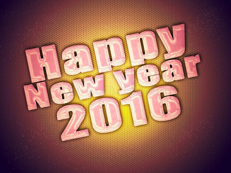 Recuerdos de la Feliz Año Nuevo 2016 fotografía de archivo