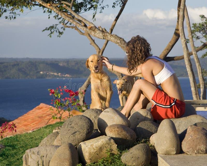 Recuo idílico de Costa-Rica imagem de stock royalty free