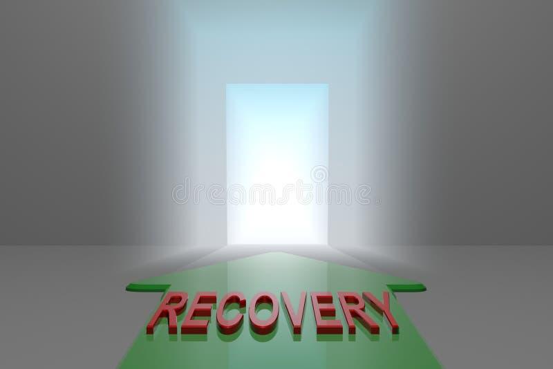 Recuperação à porta aberta ilustração stock