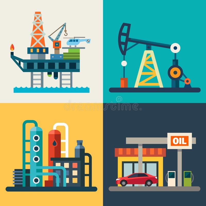 Recuperação do óleo ilustração stock