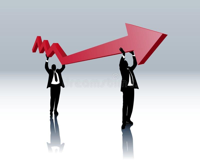 Recuperação económica ilustração do vetor