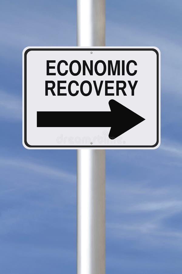 Recuperação econômica esta maneira foto de stock royalty free
