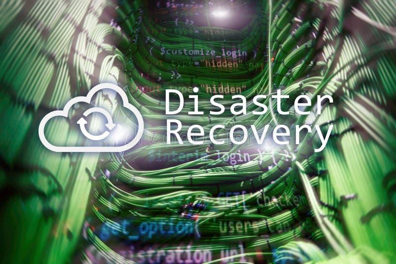 Recuperación de catástrofes Prevención de la pérdida de datos Sitio del servidor en fondo imágenes de archivo libres de regalías