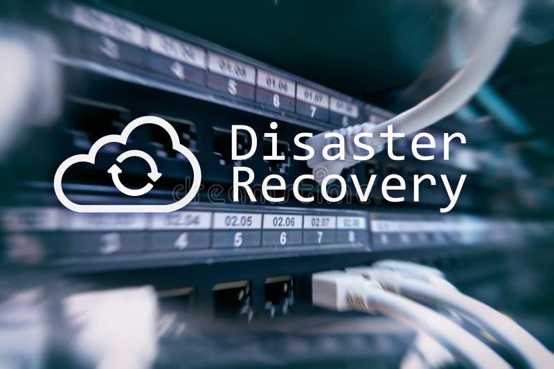 Recuperación de catástrofes Prevención de la pérdida de datos Sitio del servidor en fondo fotos de archivo