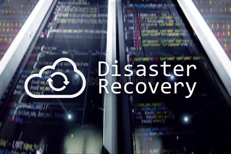 Recuperación de catástrofes Prevención de la pérdida de datos Sitio del servidor en fondo foto de archivo