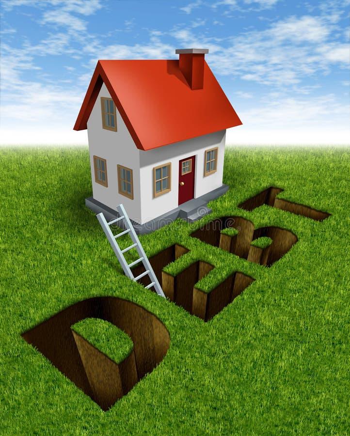 Recuperación de las propiedades inmobiliarias stock de ilustración