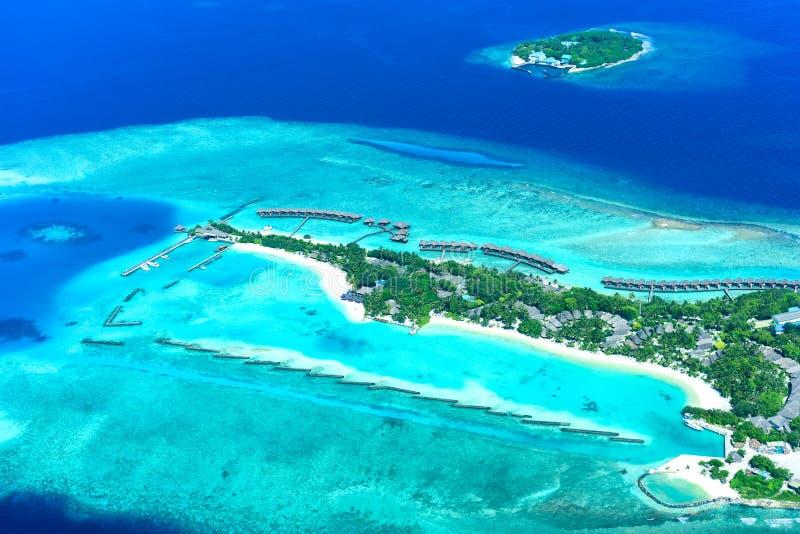 Recurso da Lua cheia de Maldivas imagens de stock royalty free