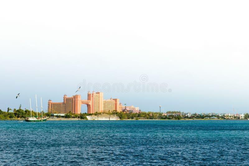 Recurso de Atlantis Paradise em Nassau, Bahamas imagem de stock royalty free