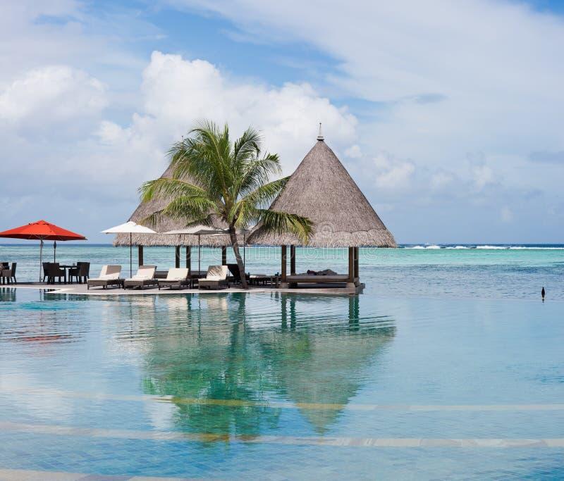 Recurso de console de Maldives foto de stock