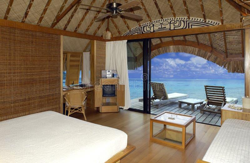 Recurso de férias tropical luxuoso - Bora Bora imagens de stock royalty free