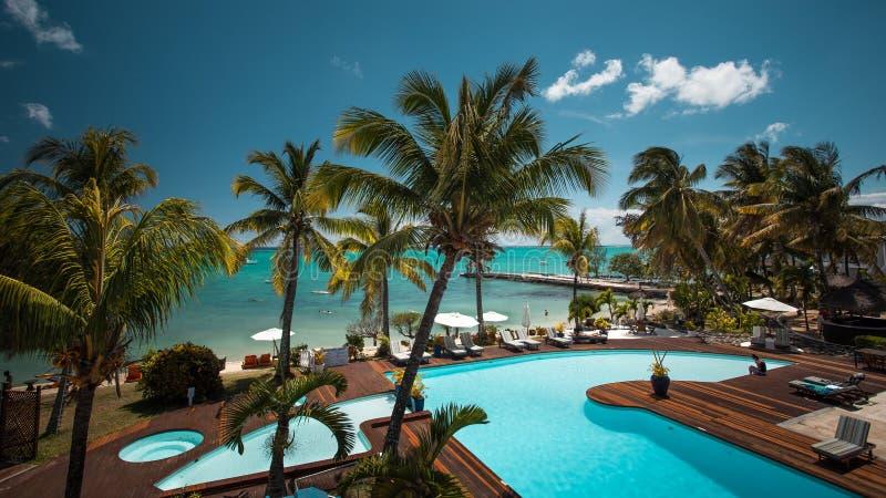 Recurso de feriado perfeito na ilha de Maurícias imagem de stock