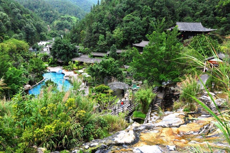 Recurso de Hot Springs em Tengchong, China foto de stock royalty free