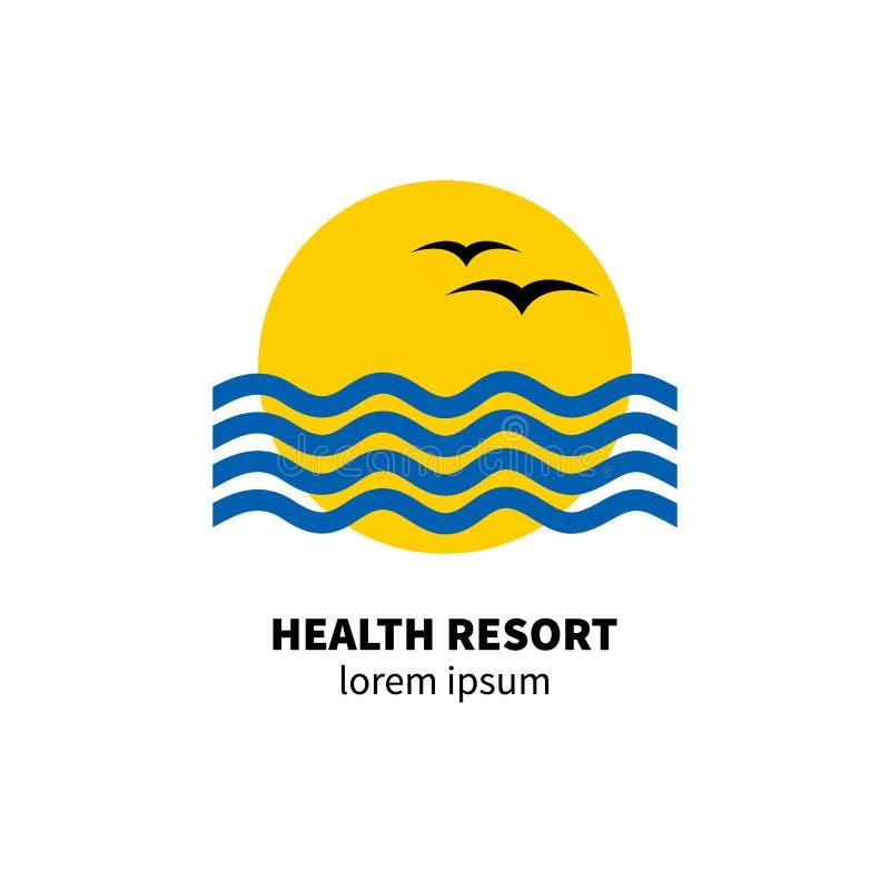 Recurso de saúde do logotipo ilustração do vetor