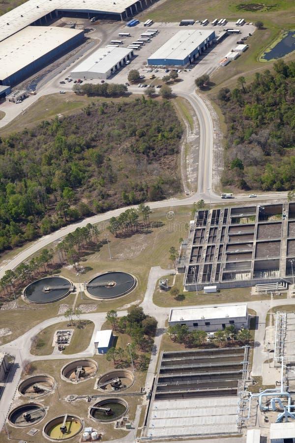 Recurso del tratamiento de aguas residuales foto de archivo