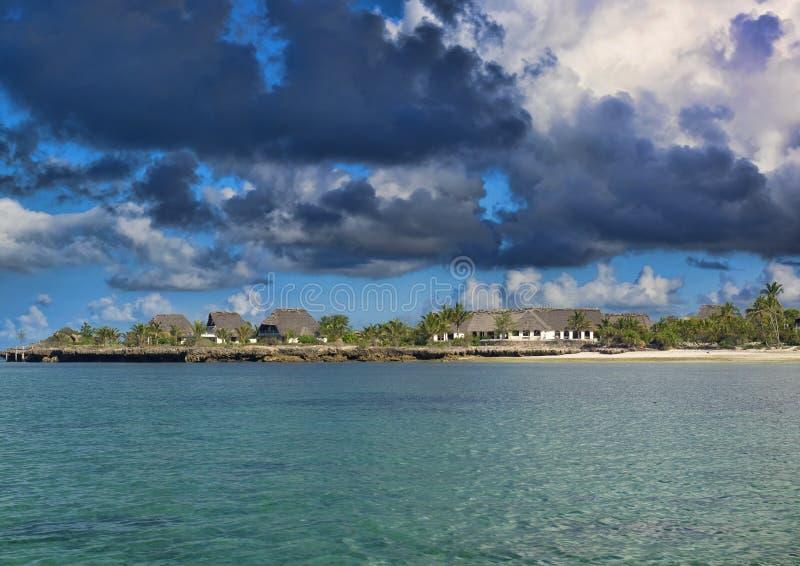Recurso do bungalow em Zanzibar fotos de stock royalty free