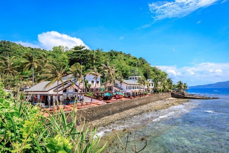 Recurso do santuário dos mergulhadores o 2 de setembro de 2017 em Batangas, Filipinas imagens de stock royalty free