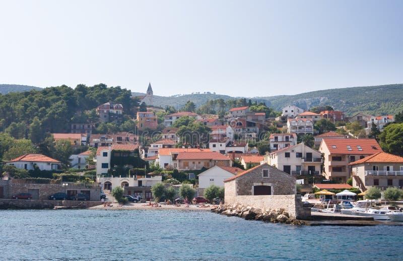 Recurso Jelsa, Croatia imagem de stock