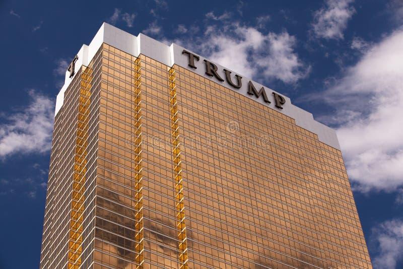 Recurso luxuoso do trunfo em Las Vegas fotografia de stock