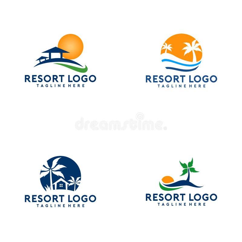 Recurso simples e criativo Logo Collection ilustração royalty free