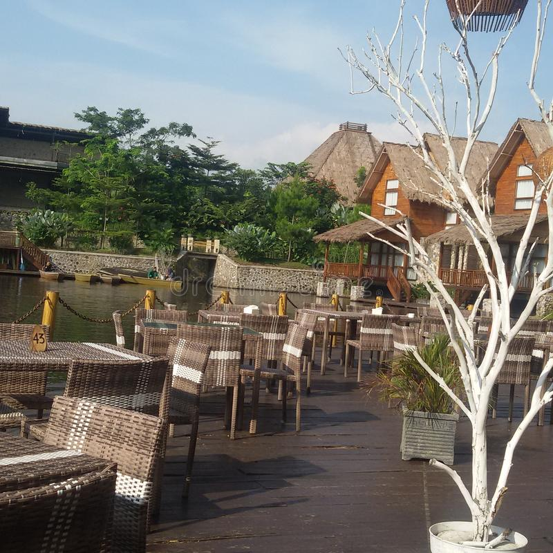 Recurso & termas de Kamojang fotos de stock royalty free