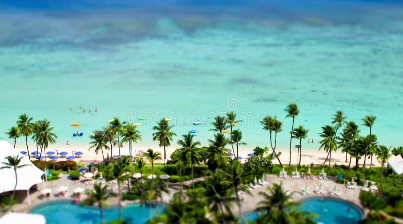 Recurso tropical fotografia de stock