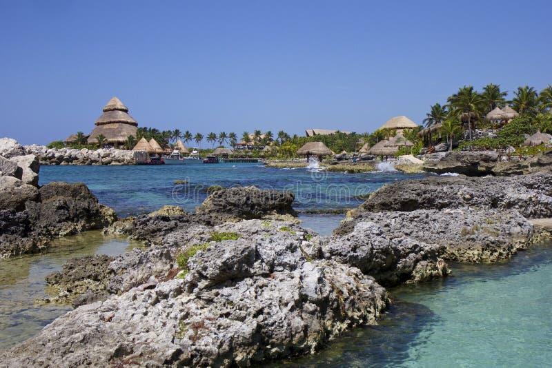 Recurso tropical de Xcaret em México imagem de stock
